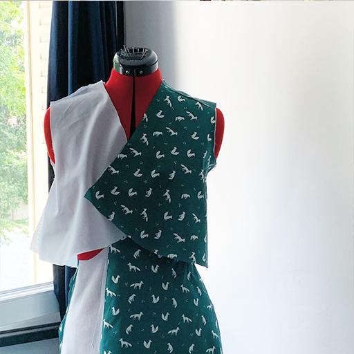 Tissu découpé pour la robe lune
